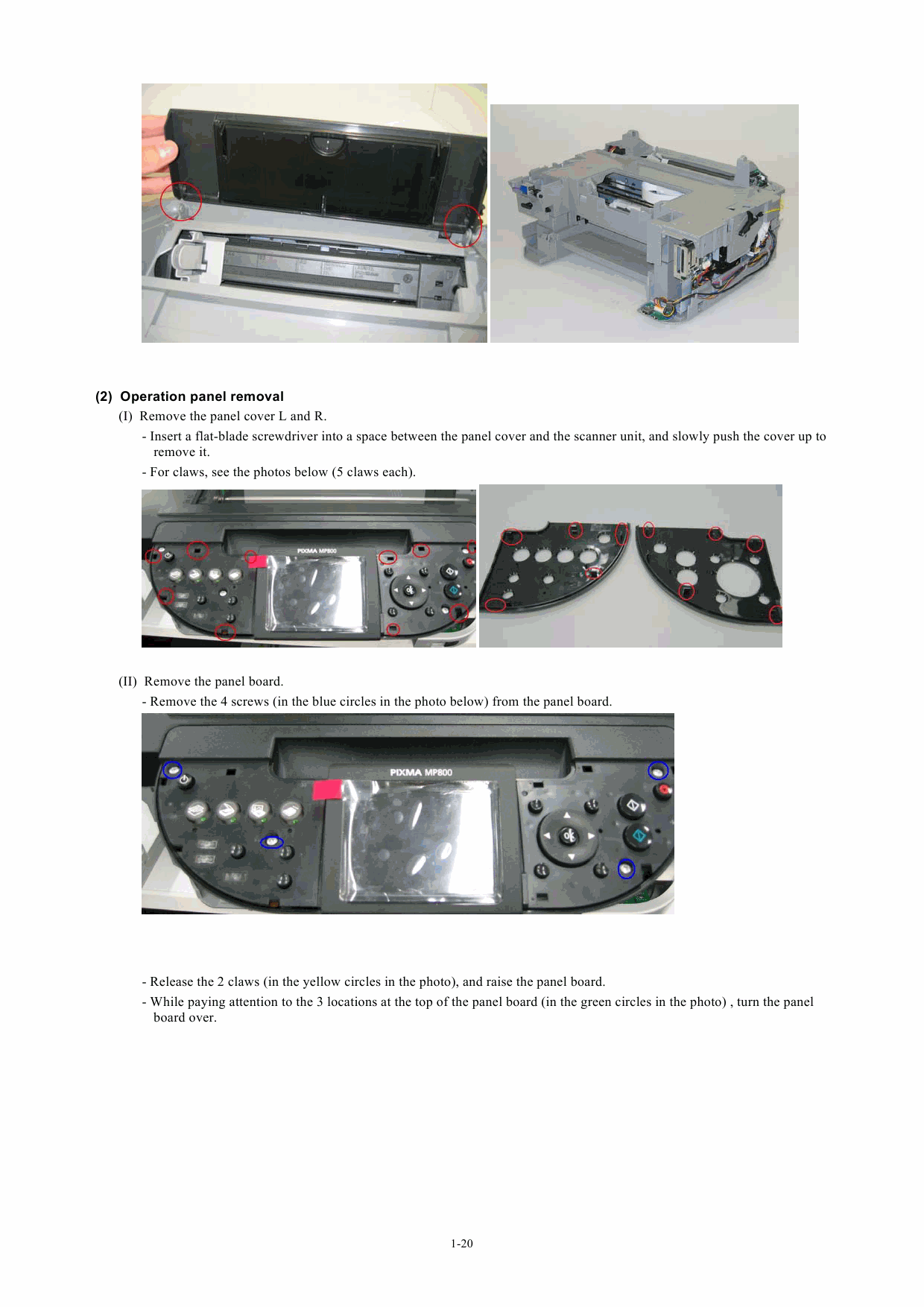 CANON PIXMA MP800 MP 800 SERVICE & REPAIR MANUAL +PARTS LIST ...